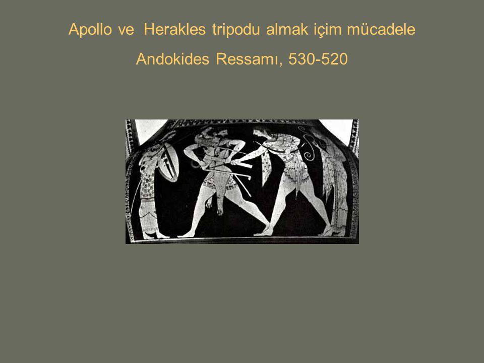 Apollo ve Herakles tripodu almak içim mücadele Andokides Ressamı, 530-520