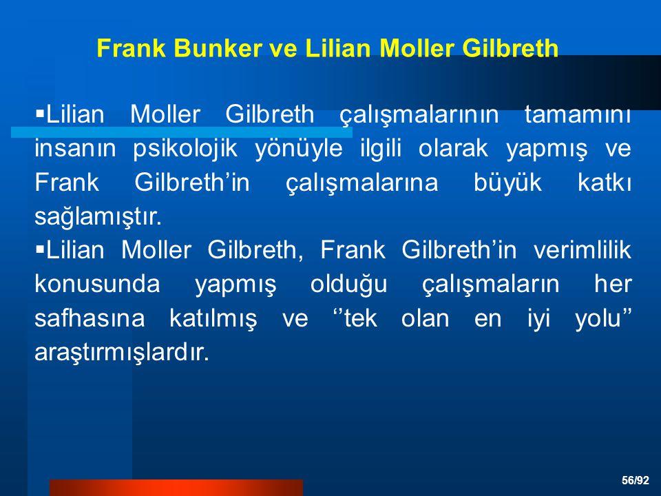 Frank Bunker ve Lilian Moller Gilbreth
