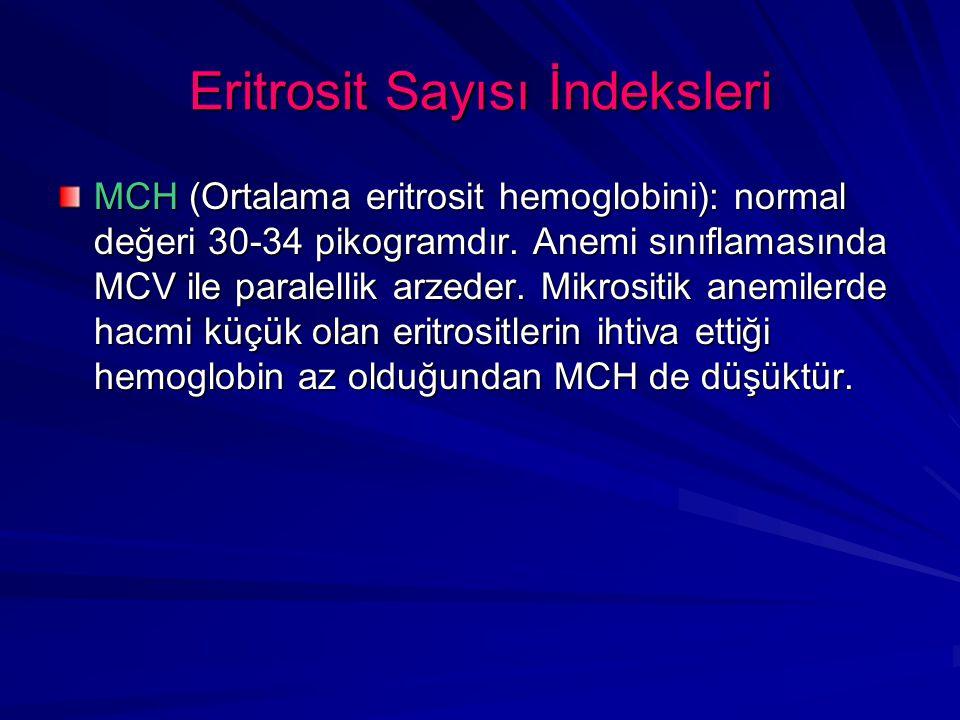 Eritrosit Sayısı İndeksleri