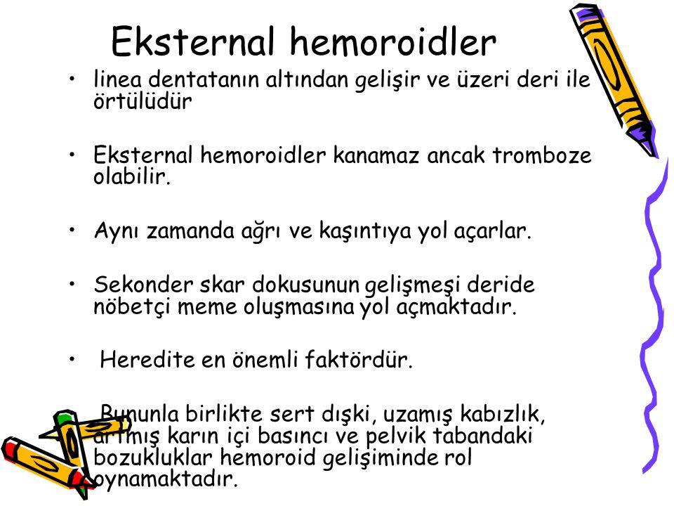 Eksternal hemoroidler