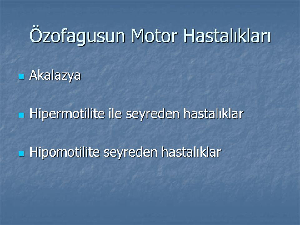 Özofagusun Motor Hastalıkları