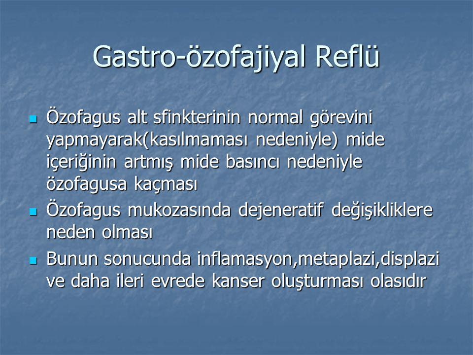 Gastro-özofajiyal Reflü