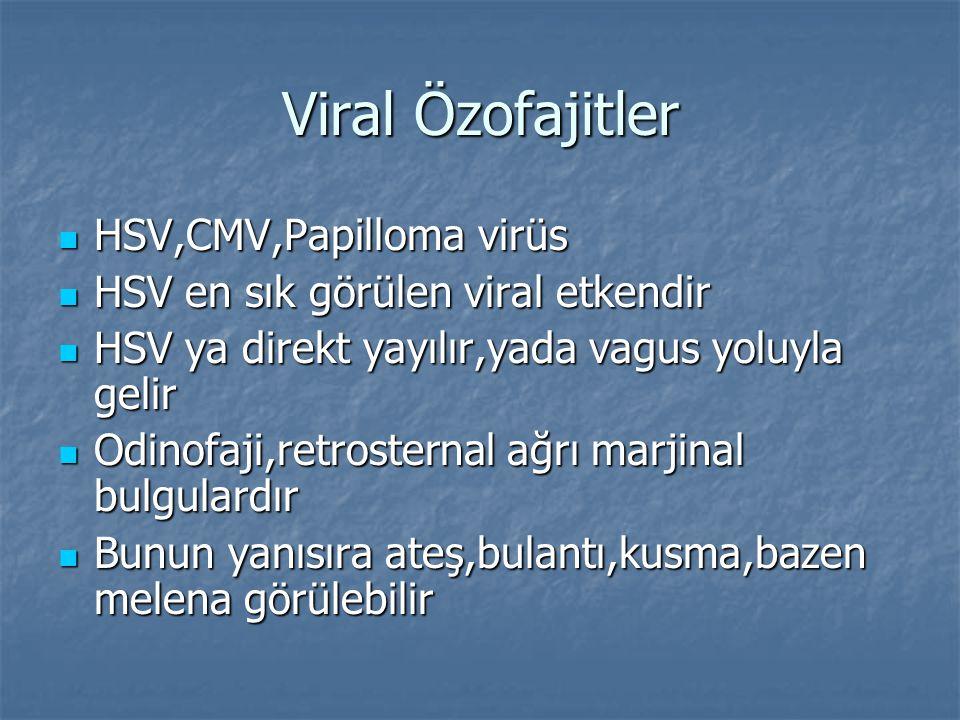 Viral Özofajitler HSV,CMV,Papilloma virüs