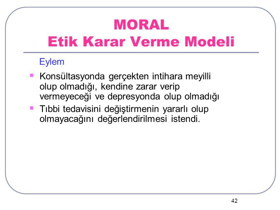 MORAL Etik Karar Verme Modeli