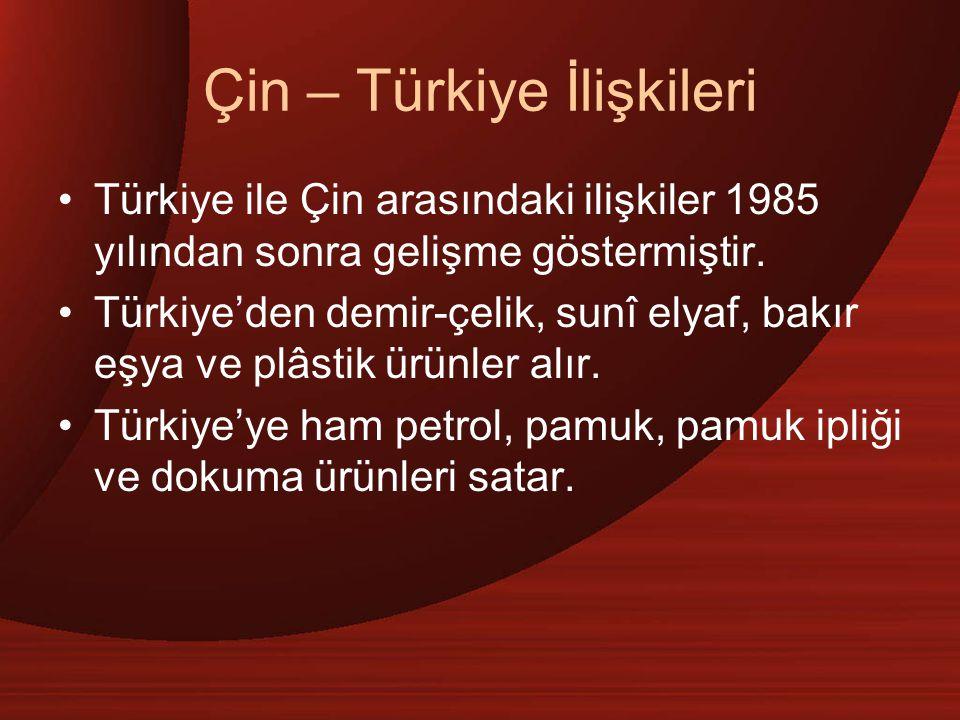 Çin – Türkiye İlişkileri
