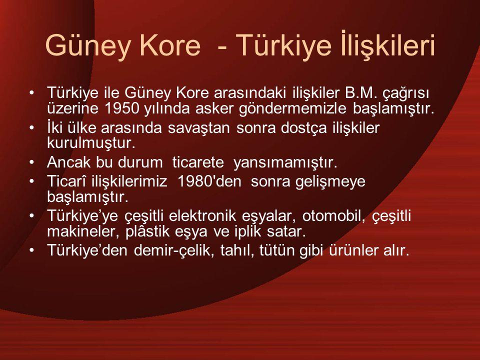 Güney Kore - Türkiye İlişkileri