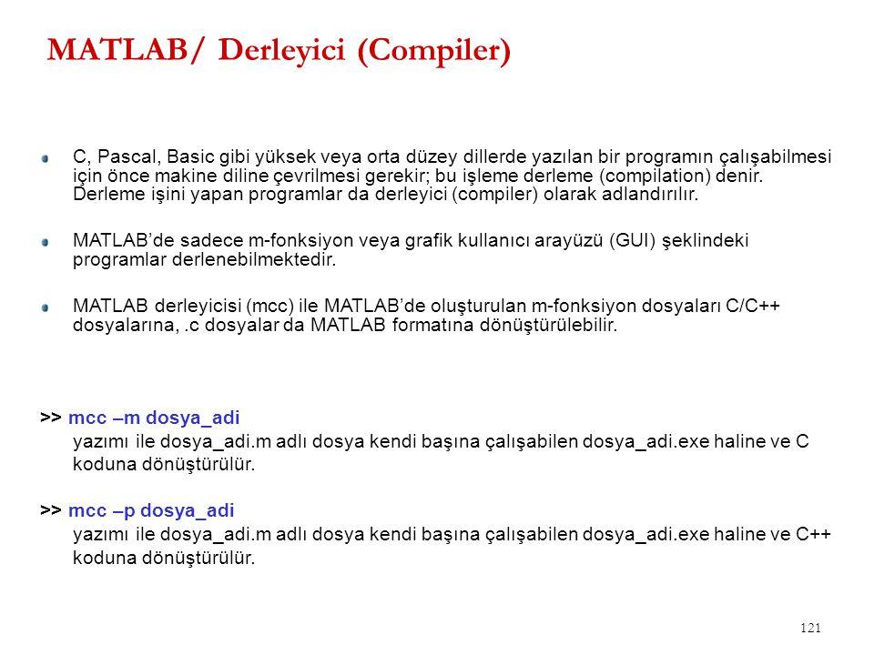 MATLAB/ Derleyici (Compiler)