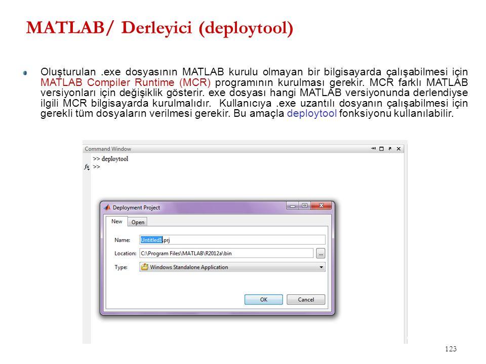 MATLAB/ Derleyici (deploytool)