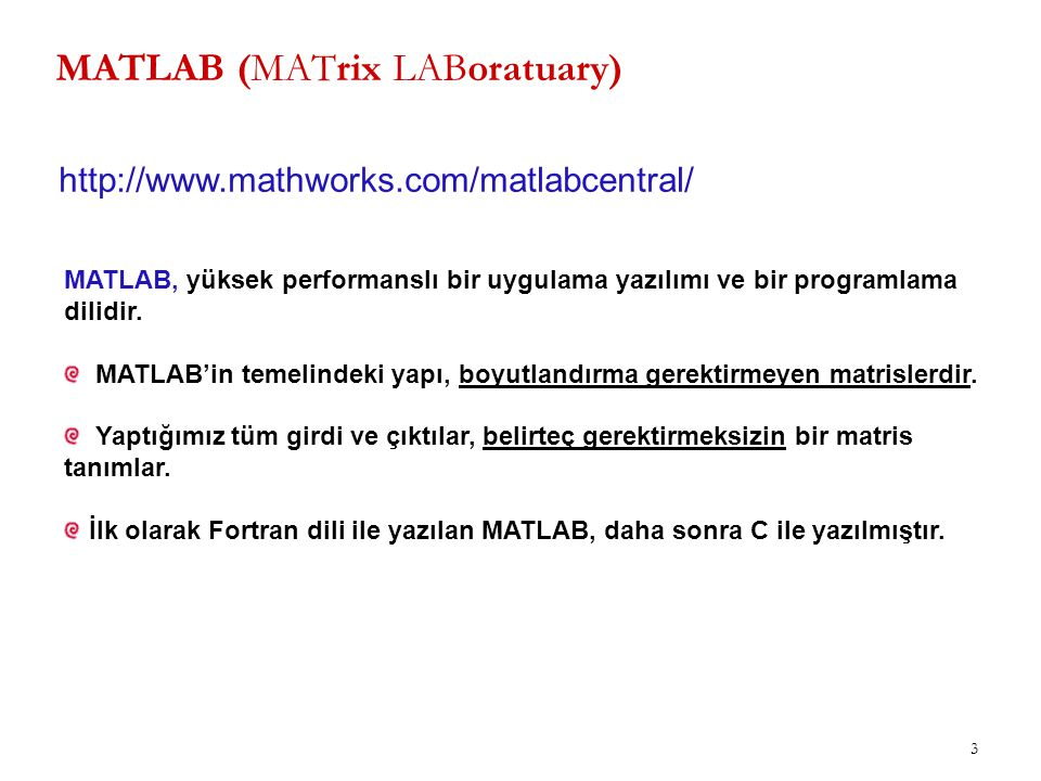 MATLAB (MATrix LABoratuary)