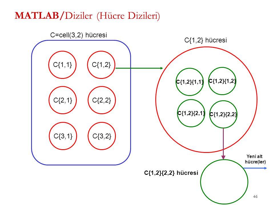 MATLAB/Diziler (Hücre Dizileri)