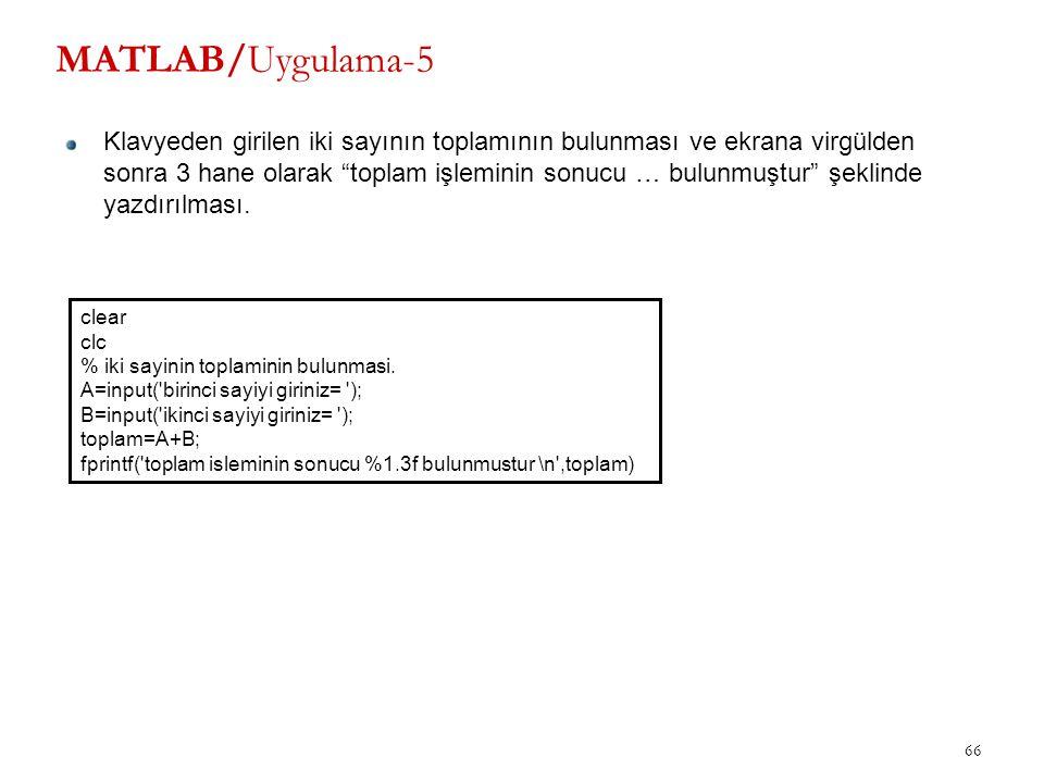 MATLAB/Uygulama-5