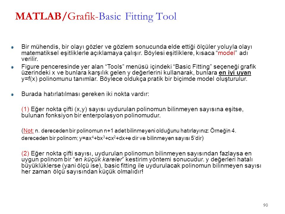 MATLAB/Grafik-Basic Fitting Tool