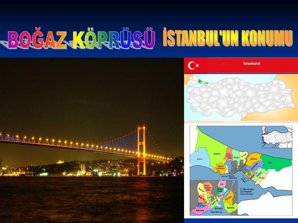 İstanbul ilinin konumu