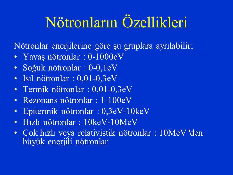 Nötronların Özellikleri