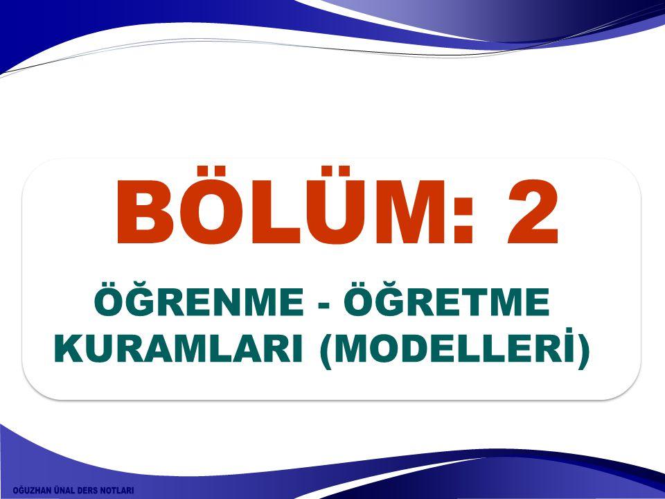 KURAMLARI (MODELLERİ)