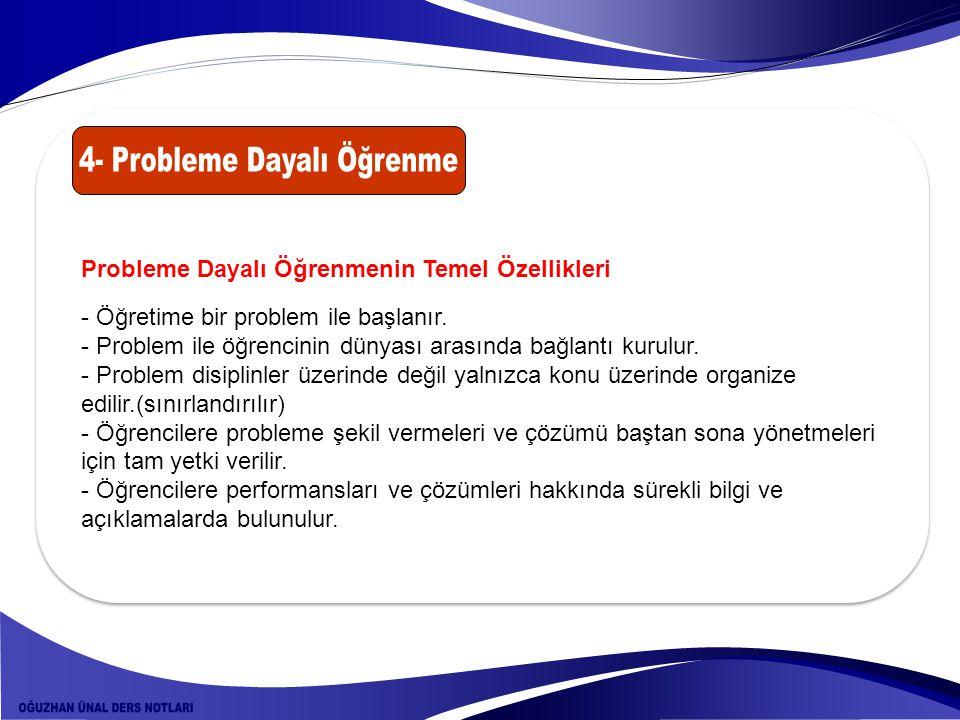 4- Probleme Dayalı Öğrenme