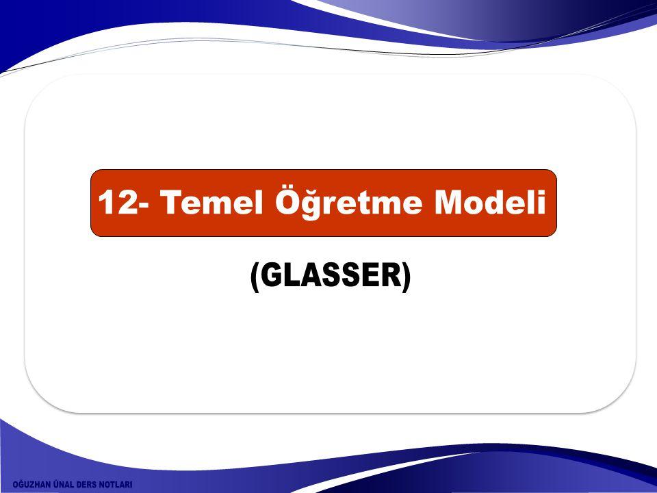 12- Temel Öğretme Modeli (GLASSER)
