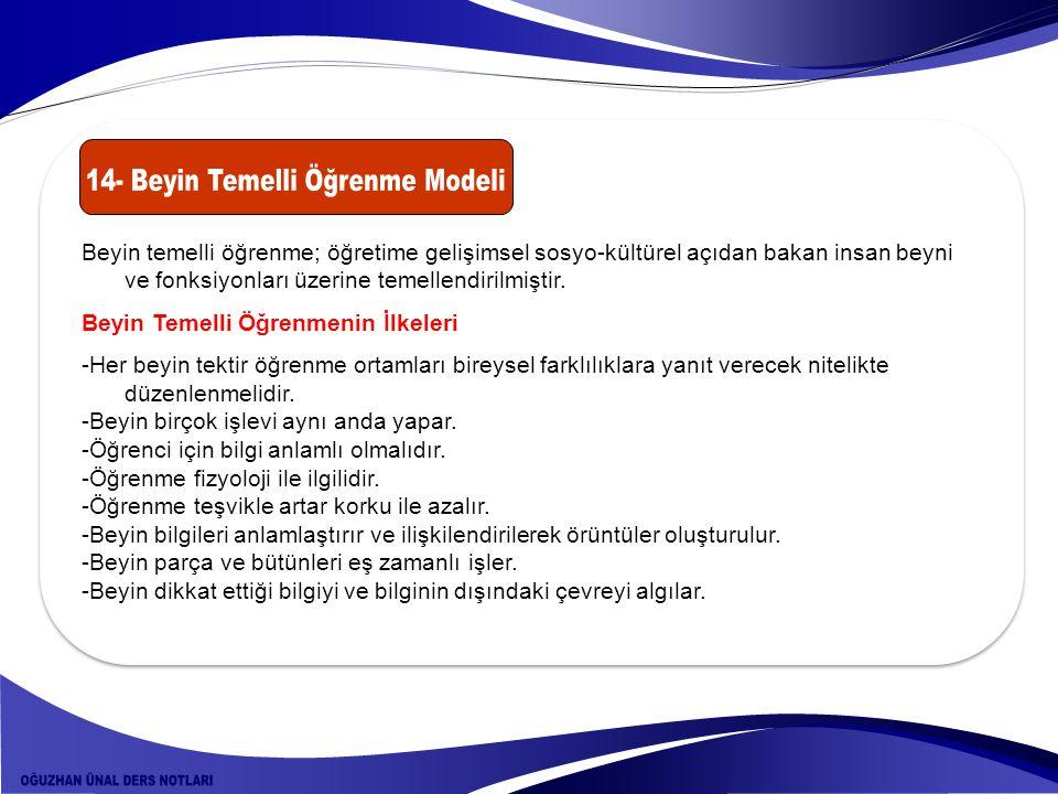 14- Beyin Temelli Öğrenme Modeli