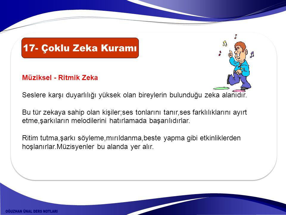 17- Çoklu Zeka Kuramı Müziksel - Ritmik Zeka