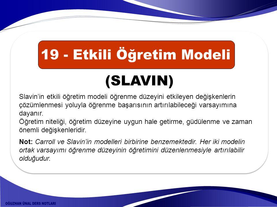19 - Etkili Öğretim Modeli