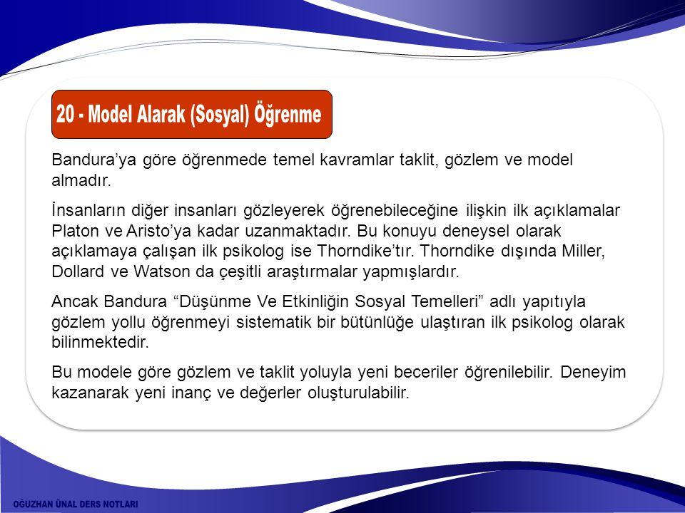 20 - Model Alarak (Sosyal) Öğrenme