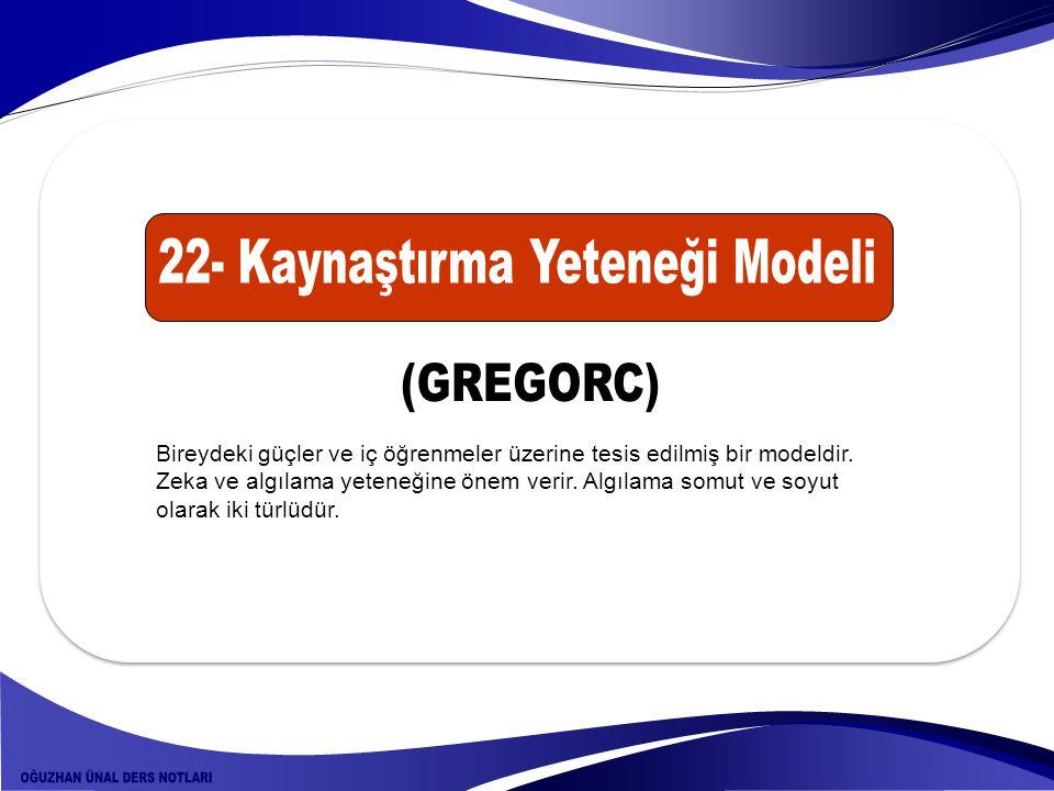 22- Kaynaştırma Yeteneği Modeli