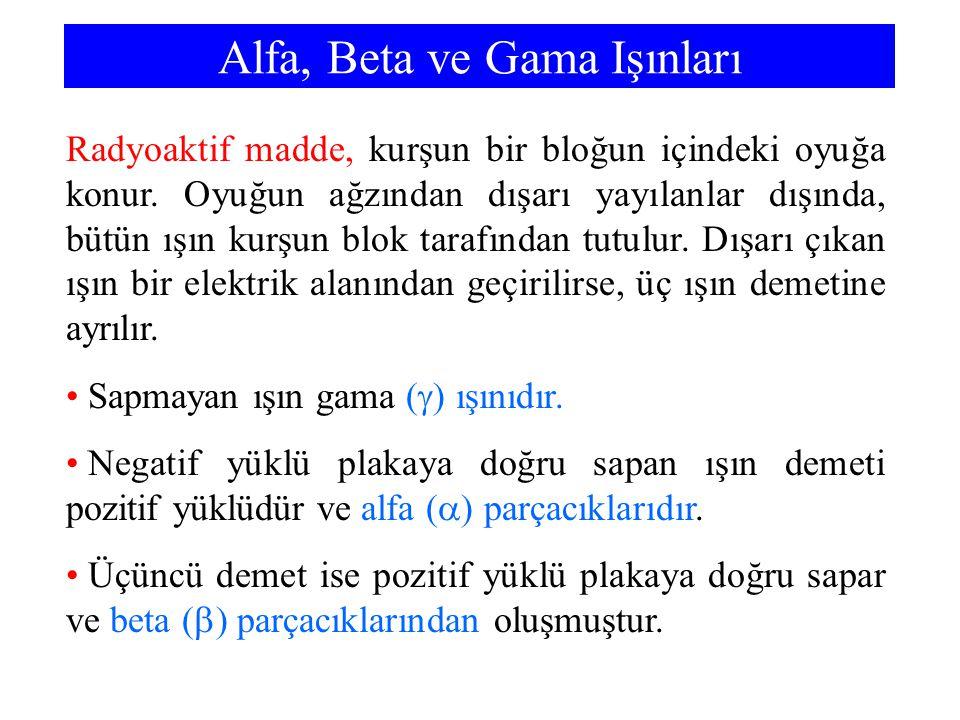 Alfa, Beta ve Gama Işınları
