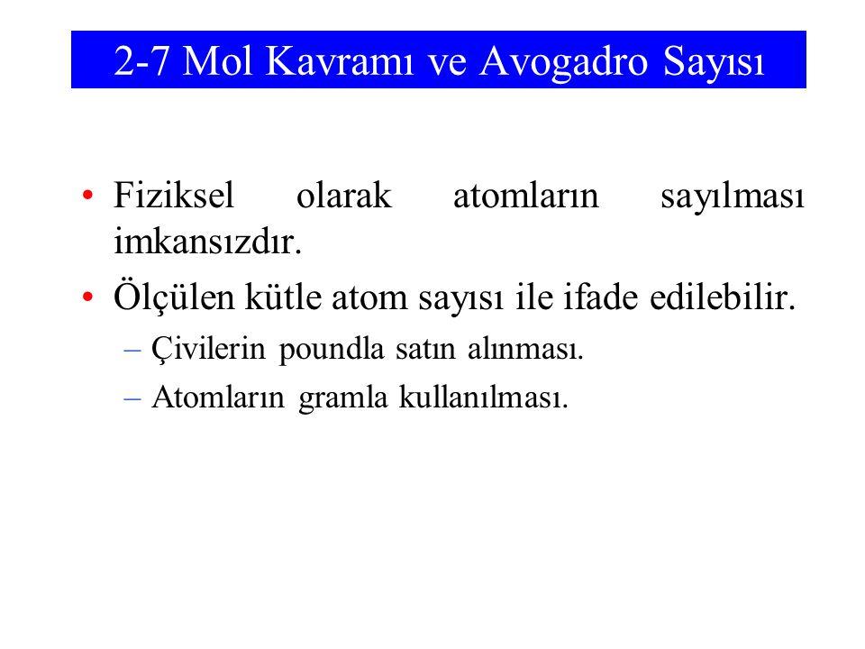 2-7 Mol Kavramı ve Avogadro Sayısı