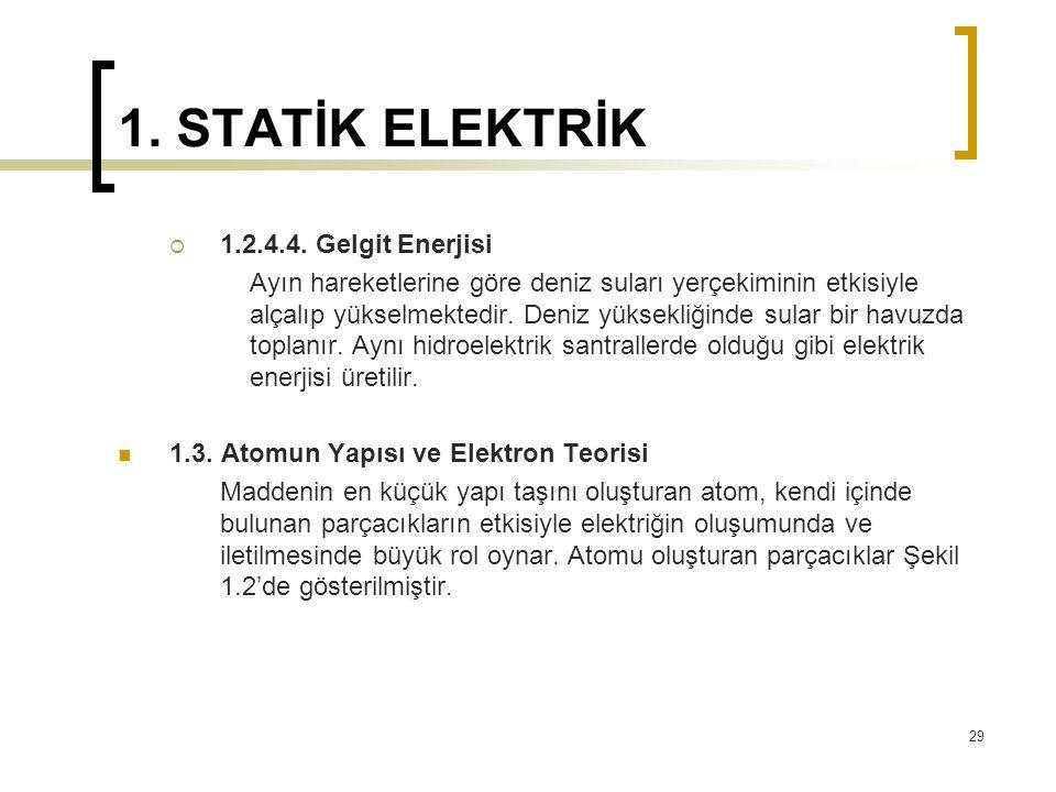 1. STATİK ELEKTRİK 1.2.4.4. Gelgit Enerjisi