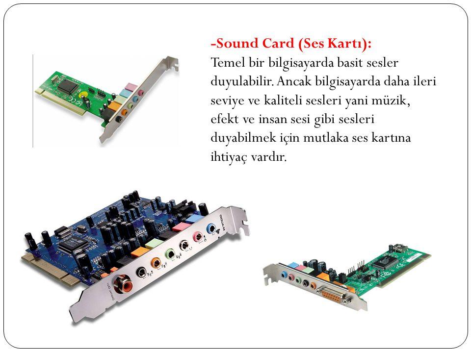 -Sound Card (Ses Kartı):