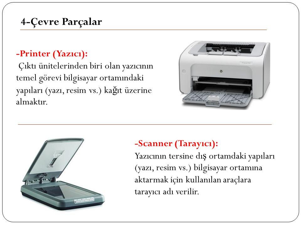 4-Çevre Parçalar -Printer (Yazıcı):