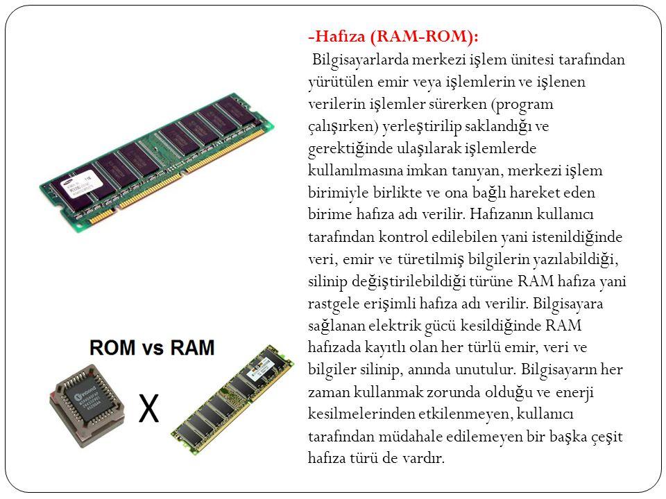 -Hafıza (RAM-ROM):