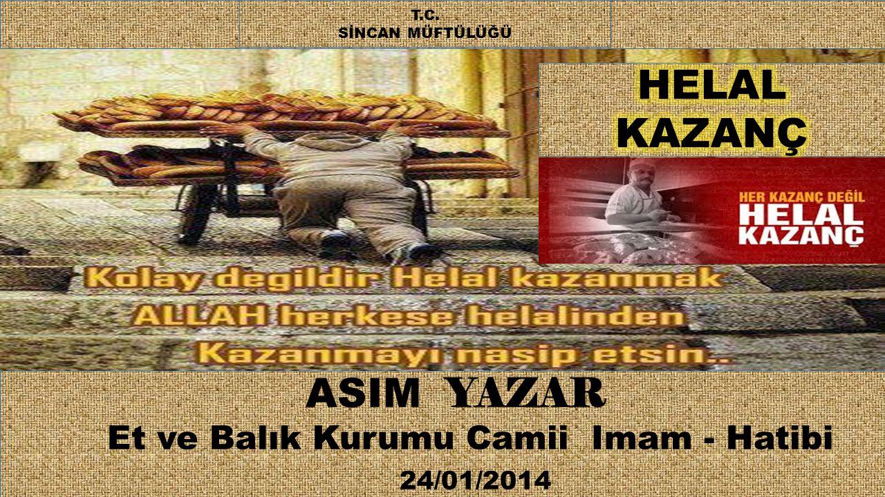 Et ve Balık Kurumu Camii Imam - Hatibi