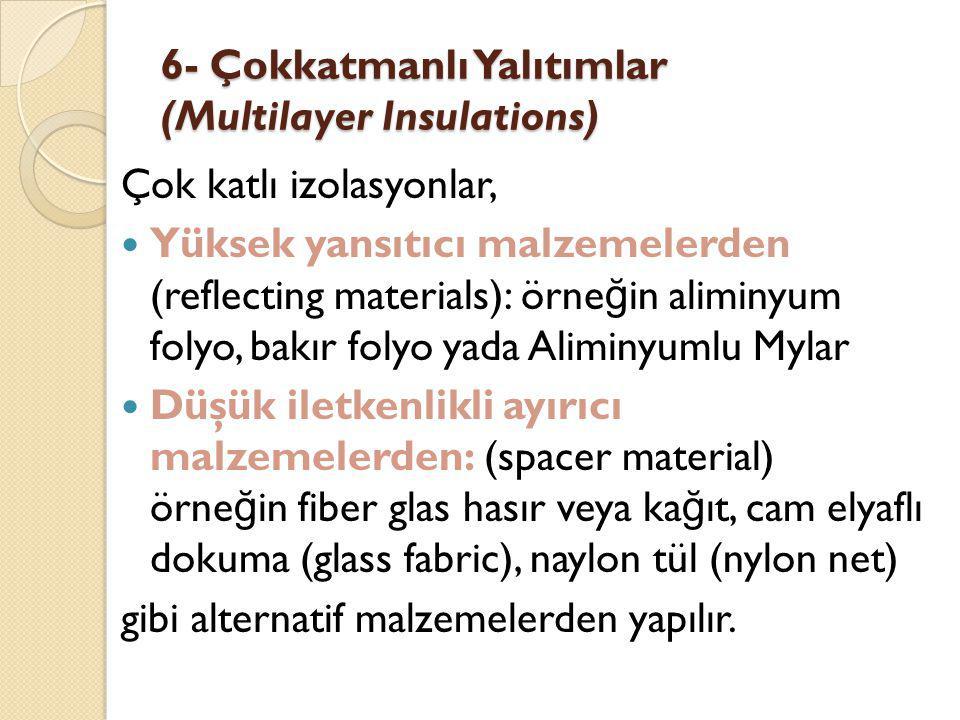 6- Çokkatmanlı Yalıtımlar (Multilayer Insulations)