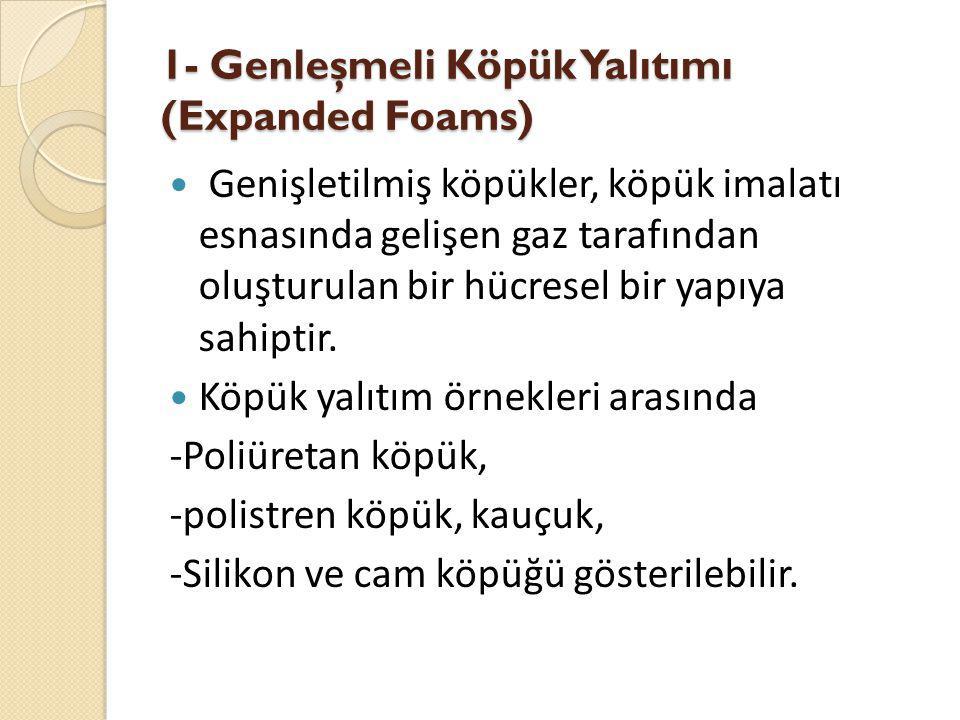 1- Genleşmeli Köpük Yalıtımı (Expanded Foams)