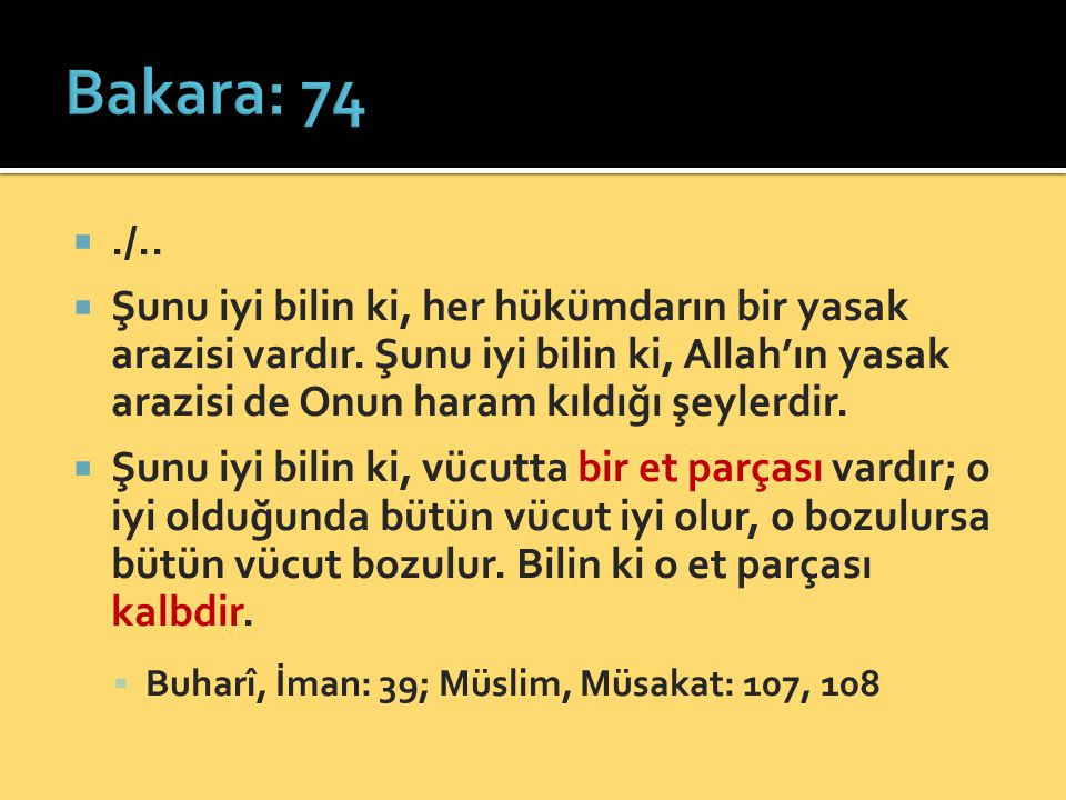 Bakara: 74 ./..