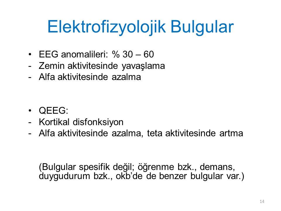 Elektrofizyolojik Bulgular