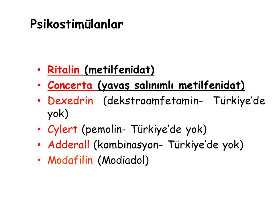 Psikostimülanlar Ritalin (metilfenidat)