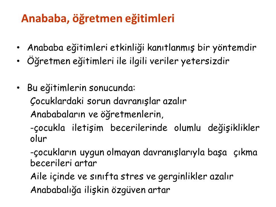 Anababa, öğretmen eğitimleri