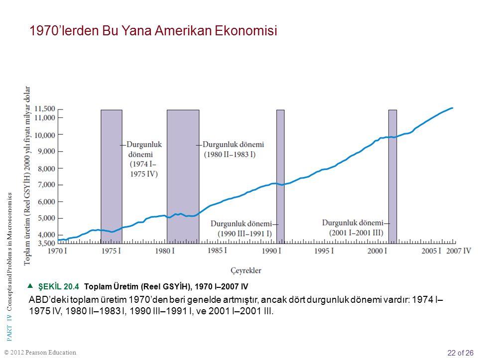 1970'lerden Bu Yana Amerikan Ekonomisi