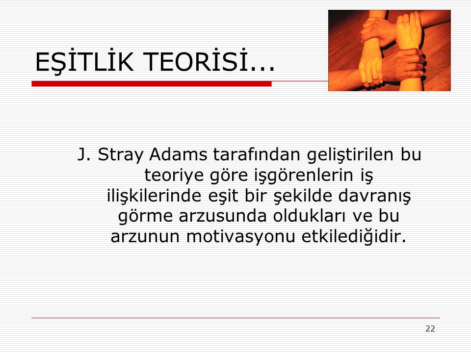 EŞİTLİK TEORİSİ...