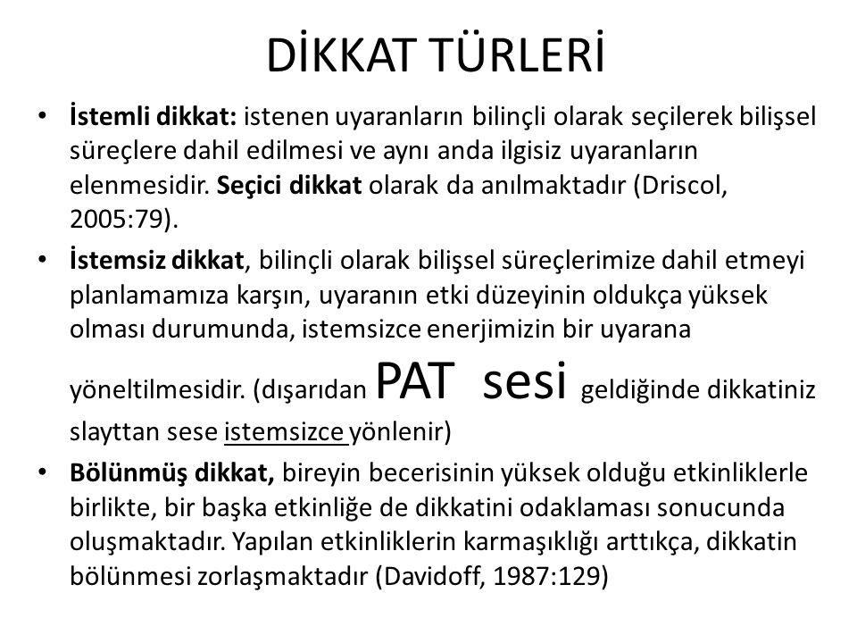 DİKKAT TÜRLERİ