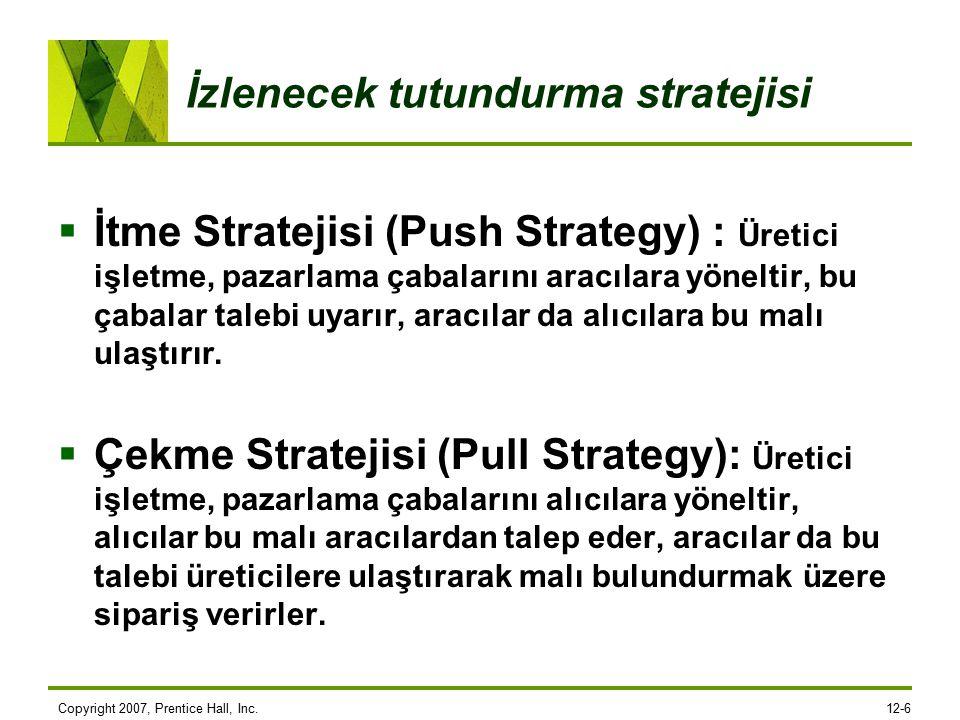 İzlenecek tutundurma stratejisi