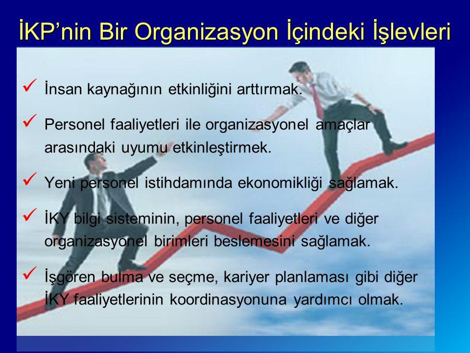 İKP'nin Bir Organizasyon İçindeki İşlevleri