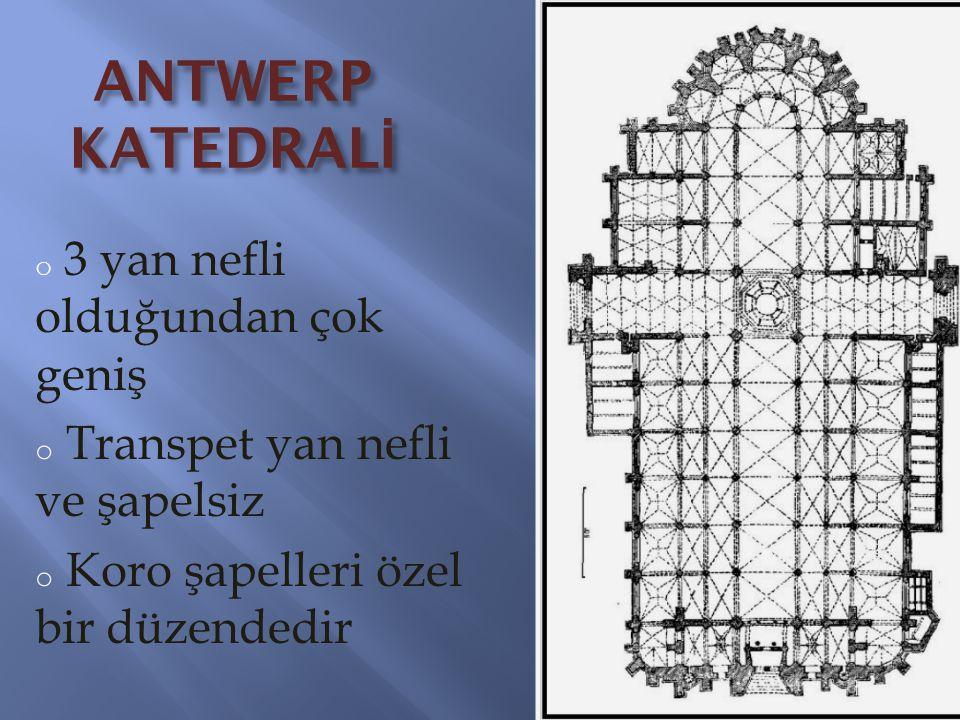 ANTWERP KATEDRALİ Transpet yan nefli ve şapelsiz