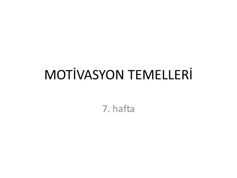 Motivasyon Kavramının Temelleri 33
