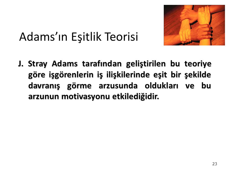 Adams'ın Eşitlik Teorisi