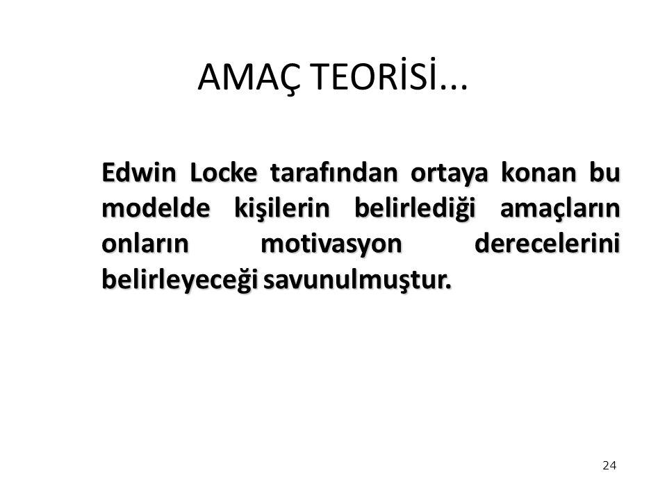AMAÇ TEORİSİ...
