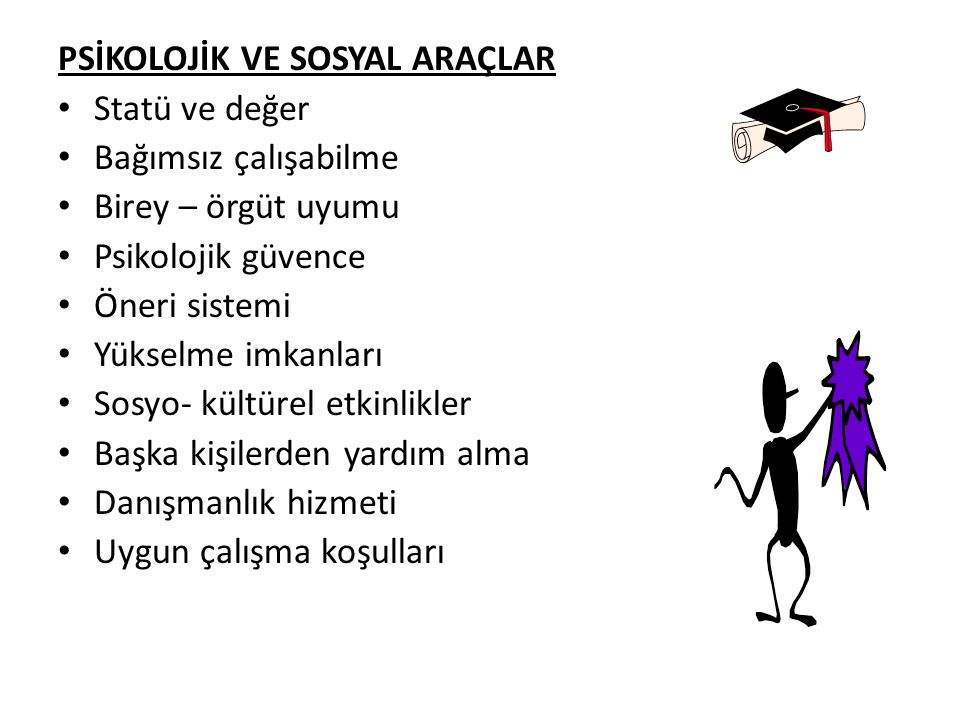 PSİKOLOJİK VE SOSYAL ARAÇLAR