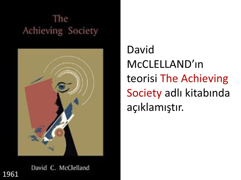 David McCLELLAND'ın teorisi The Achieving Society adlı kitabında açıklamıştır.